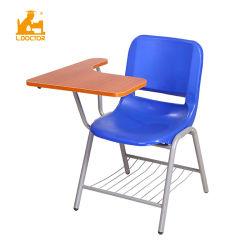 中国の学校のプラスチック青いタブレットアーム椅子の机