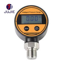 Manometro di Digitahi dell'acciaio inossidabile di alta precisione per la misura di olio combustibile liquida di vuoto della gomma del gas di aria dell'acqua con una barra PSI Kg/Cm2 G1/2 M20*1.5 1/4NPT dei 100 MPa