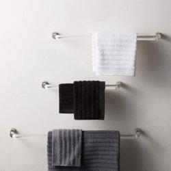 Yageli Wholesale Clearview Acrylic 18인치 광택 니켈 벽 마운트 싱글 타월 바