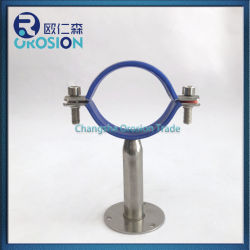 تركيب أنبوب دائري من الفولاذ المقاوم للصدأ معتم بالمطاط