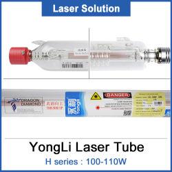 レーザー装置用金属ヘッド付き 100 W レーザーチューブ