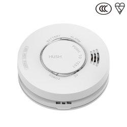 Alarma de Incendio cable detector de humo blanco AC220V DC9V