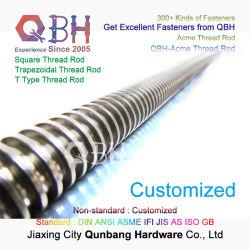 Qbh personalizado padrão Média Baixa Liga de carbono em aço inoxidável resistente Rolo Acme Secção quadrada todas as roscas rosca barra longa Levar a haste roscada