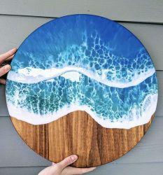 ガラス透過芸術のペンキの床/カウンタートップの/Tableのエポキシ樹脂自己の水平になること