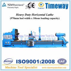torno horizontal pesada máquina (970mm de largura de Cama & 10Ton carregamento)