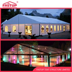 خيمة ماركيز لحفل الزفاف ذات السقف الشفاف أو الأبيض مظلة لـ 1500 1000 800 800 300 100 200 300 2000 ضيف