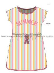 Vestiti estivi per bambini vestiti per ragazze con stampa di Puff e. Stampa completa
