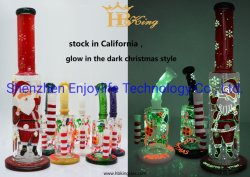 Incandescente in Dark 19inch Big Straight Glass Water Pipr stock in California Warehouse.