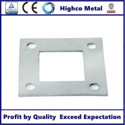Après de gros et de la main courante à montage sur rail de montage, plaque de base de tube carré