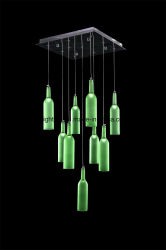 Новый стиль цветные стекла современная люстра LED