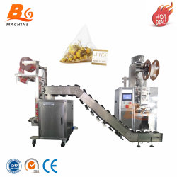 Macchinario automatico della macchina per l'imballaggio delle merci dell'imballaggio del sacchetto della bustina di tè del triangolo del fiore
