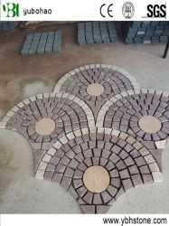Geflammter roter Porphyr-Granit-Stein-Würfel-Pflasterung-Stein für Fußboden-Fliese