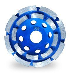 5 дюйм Двухрядным алмазные шлифовальные чашки колеса Арбор для конкретных кирпича