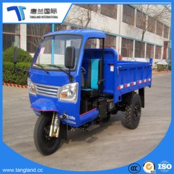 Camión volquete tres ruedas Mini triciclo volquete camión de carga