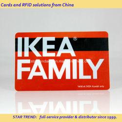 Los colores completos Magetic transparente de PVC Tarjeta de presentación de una tarjeta de banda