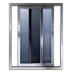 باب منزلق بسنزير من الألومنيوم مع إمكانية الإغلاق الذاتي من خلال ميزة قفل الباب الانزلاقي بأربعة قضبان مع مكونات مادية وسعر قفل خطاف
