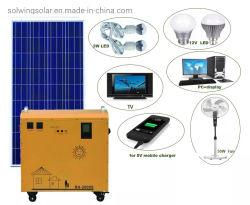 Portátil de uso doméstico generador de energía Solar paneles solares y de la batería