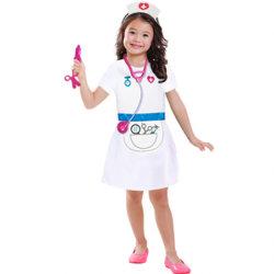 유아용 간호사 역할극 커리어 의상 설정