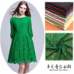 Bordados de tecido de renda de tecido para o desgaste das mulheres