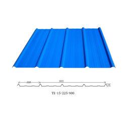 Material de construção PPGI Color Trapezoid Ibr folha de metal de metal corrugado