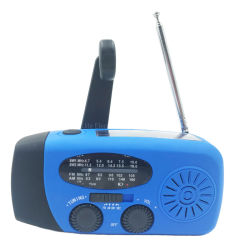 Am/FM/Sw ресивер диапазона частот всего мира чрезвычайных погодных радио с светодиодный светильник с банком для зарядки телефона