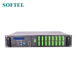 16 amplificatore ottico delle porte CATV EDFA 1550nm con Wdm
