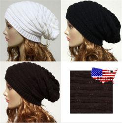 方法涼しい女性冬の暖かい編むだぶだぶの帽子の帽子