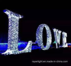 결혼식 훈장 공원 빛이 LED 휴일 크리스마스 끈에 의하여 점화한다