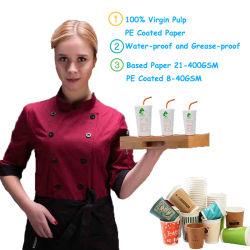 紙コップおよび食糧容器のための単一および二重PEの塗被紙