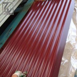 Z120g окраска Prepainted с полимерным покрытием оцинкованный гофрированный кровельные стальной лист