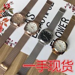 Nouveau modèle de l'acétate personnalisé écaille de tortue chronographe Sports toile maille en acier inoxydable HOMMES MONTRES -V118
