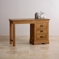 Rustieke Vintage Oak Solid Wood Dressing Table