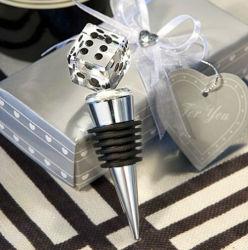 Crystal dados Tapón de botella de vino en caja de regalo.