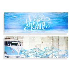 2 PC Placa de arte de la pared de madera grande la decoración del hogar Don Housewarming