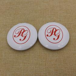 Ronda de alumínio metálico mais barato makeup/Compact/Pocket Mirror/cosméticos com o logotipo personalizado