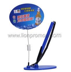 El logo impreso personalizado Contador de escritorio de plástico barato Bolígrafo con Clip de notas de publicidad