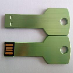 Aluminiumlegierung-Metall-USB-Blitz-Laufwerk-Grün-Schlüssel USB 16GB 32GB 8GB 4GB