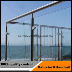 Внешние Безрамные стеклянные палубе Поручень из нержавеющей стали сочетается Balustrade стекла