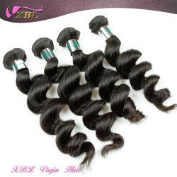 Commerce de gros prix d'usine lâche vague couleur naturelle vierge malaisien Cheveux bruts