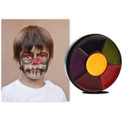 6 couleurs face Kit de peinture de carrosserie peinture maquillage Halloween non toxiques de l'huile de la peinture de l'eau Christmas Party Fancy Dress Devil Fans cosmétiques