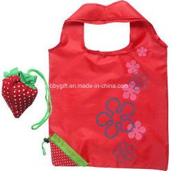 Promotie het Winkelen van de Stof van de Polyester van de Zak van de Totalisator van het Fruit van het Punt Vouwbare Zak