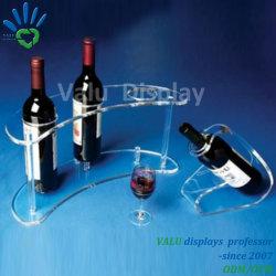 حوامل/حوامل عرض زجاجات النبيذ من الأكريليك والجملة الصافية