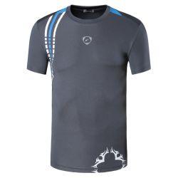 La marca su ordinazione mette in mostra le camice atletiche degli uomini di usura della maglietta