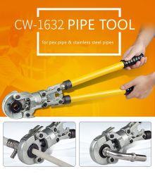 Lo strumento di piegatura idraulico del tubo degli strumenti di piegatura del tubo di Igeelee Cw-1632 per la piegatura muore di U, di Th, della V, della m., di Vau o dei dadi di piegatura 10-300mm2, Multi-