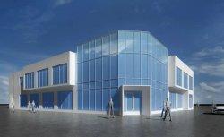 Estructura de acero Showroom/ sala de exposiciones en Aruba