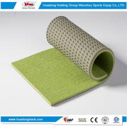 La gomma riciclata mette in mostra la pavimentazione atletica sintetica di superficie della pista