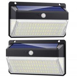 Voyant du capteur de mouvement IRP mur solaire LED lumière 228Outdoor étanches IP65 Capteur de mouvement de lumière solaire accueil Jardin Lampe de sécurité