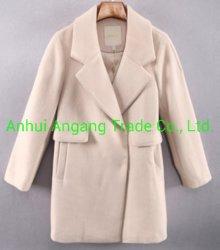 女性用エレガントなラペルダブルブレストウーレンオーバーコートコートコートコート
