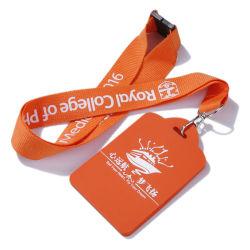 PVC 방아끈을%s 가진 연약한 플라스틱 카드 홀더, 방아끈을 인쇄하는 최신 이동을%s 가진 학생 카드 홀더