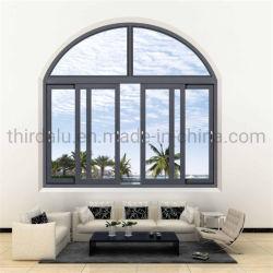 Finestra di arco di alluminio personalizzata della grata di nuovo colore dell'ente nero per la fabbrica del ODM
